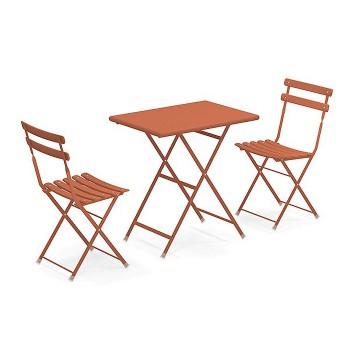 Emu Kit 2 sedie e tavolino 50x70